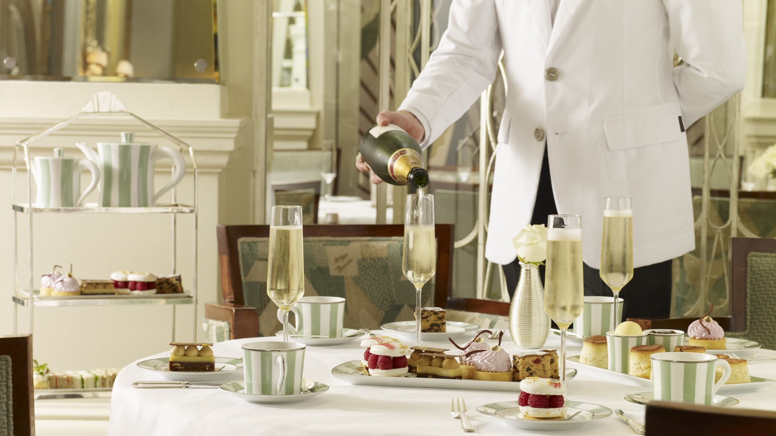 Afternoon tea in Claridges, London