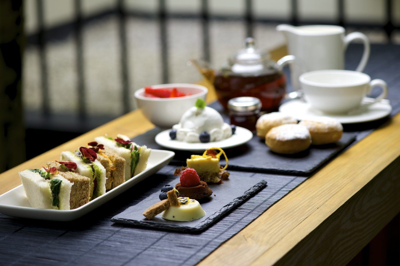 Vegan afternoon tea at La Suite West