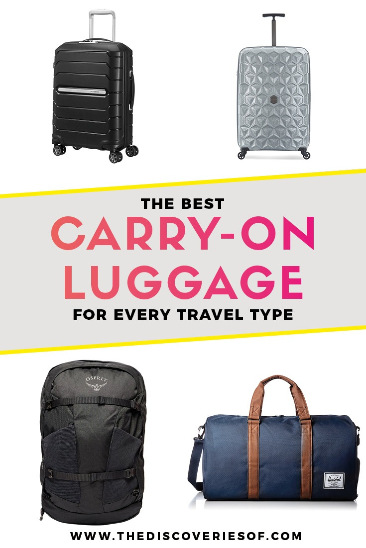 Best Carry On Luggage 2018 - Carry On Bags, Backpacks and Rolling Suitcases For Travel. Travel tips #travel #travelgear #backpacking