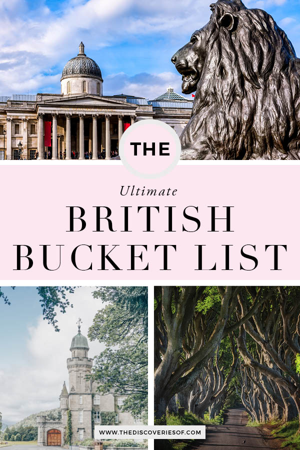 British Bucket List 1