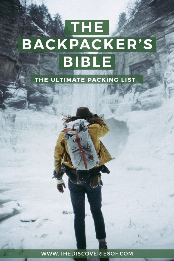Backpacking essentials packing list