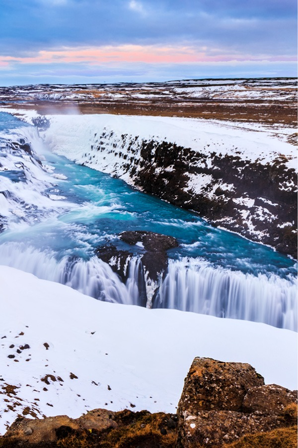 Gullfoss in Winter Waterfall