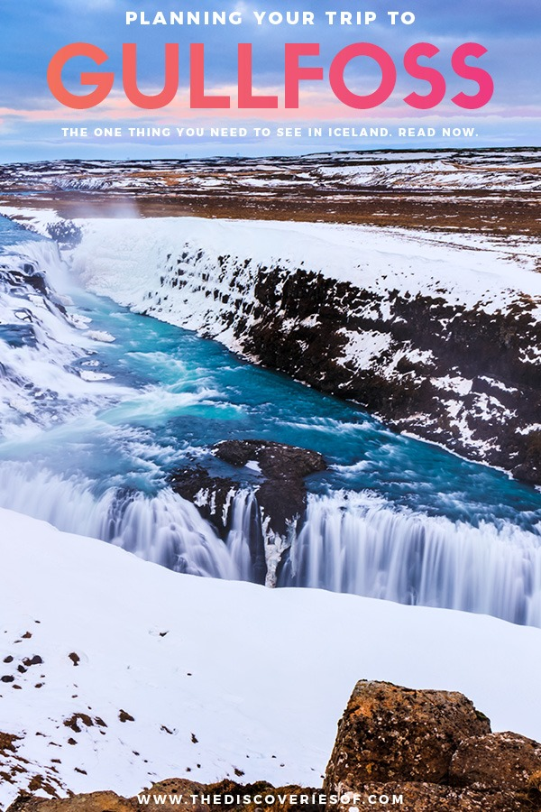 Gullfoss Frozen Waterfall