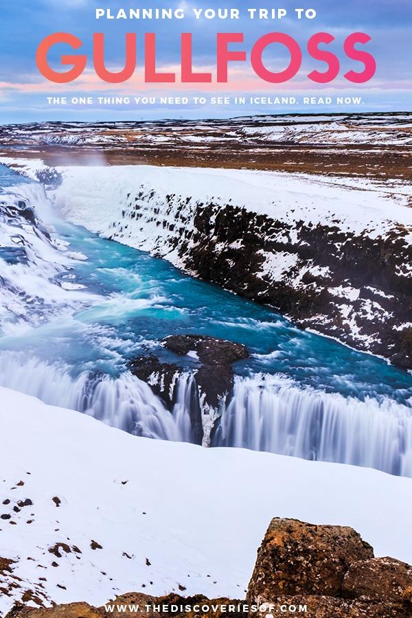 Gullfoss Frozen Waterfall