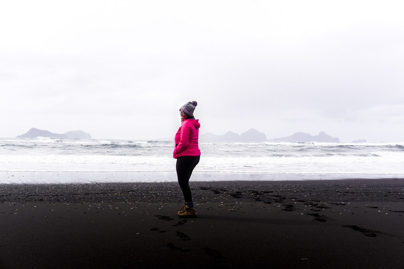 What to wear in Iceland - on the beach