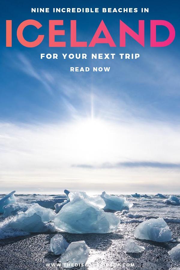 Glacier Lagoon Beach Iceland