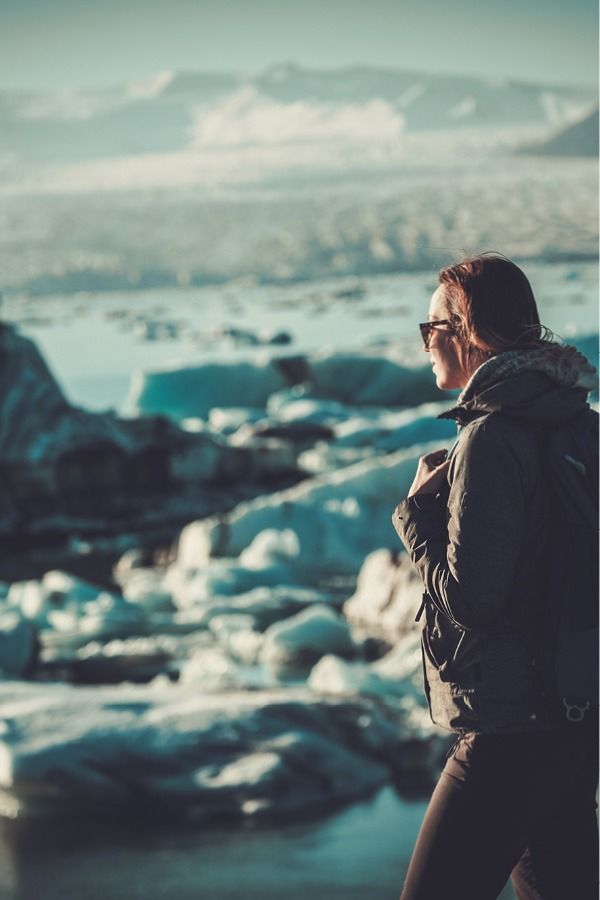 Looking out over Glacier in Iceland
