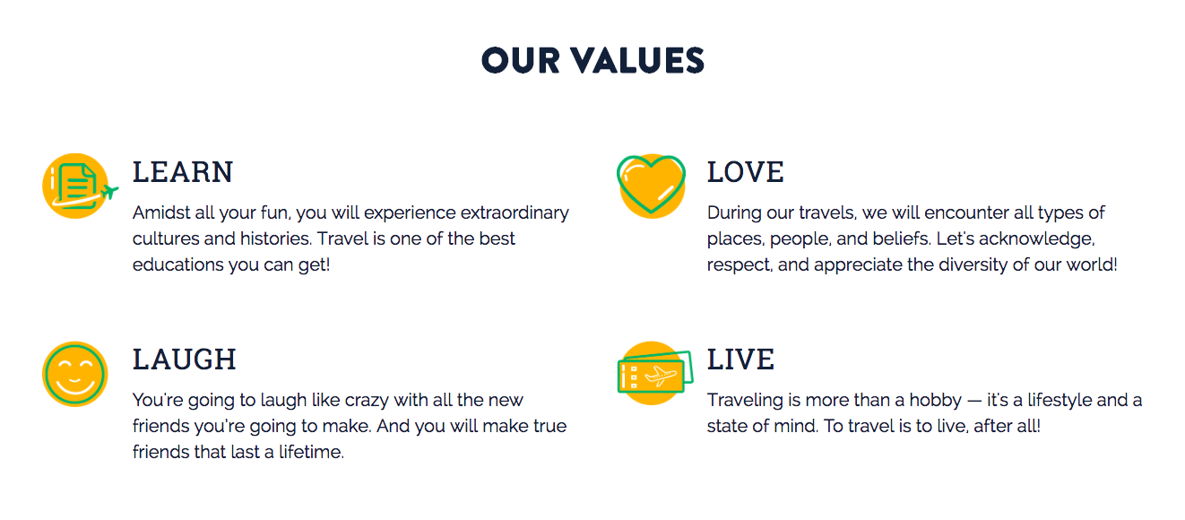 WanderList Values
