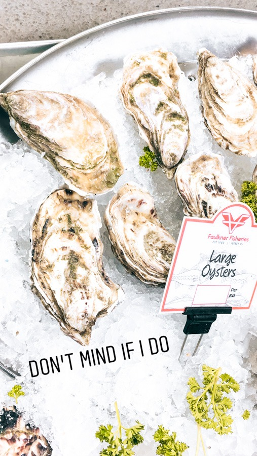Oysters in Jersey