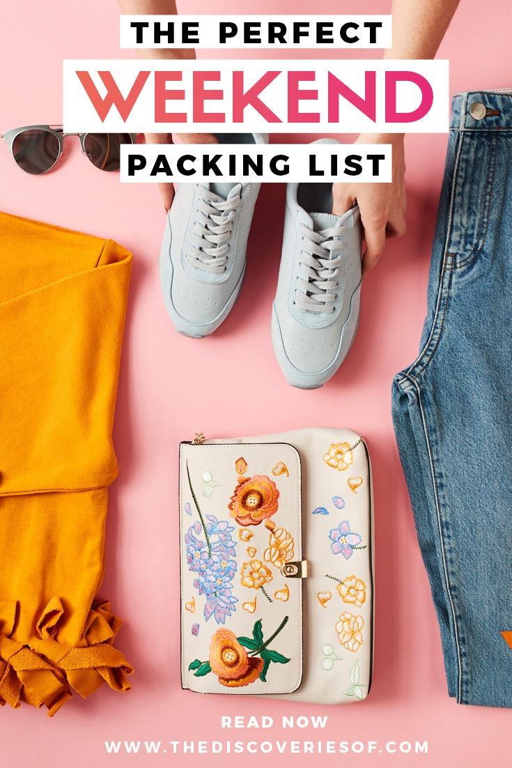 Weekend packing essentials