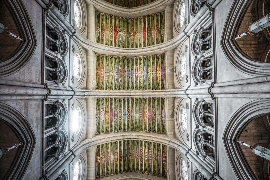 Interior of Catedral de Nuestra Señora de la Almudena Madrid