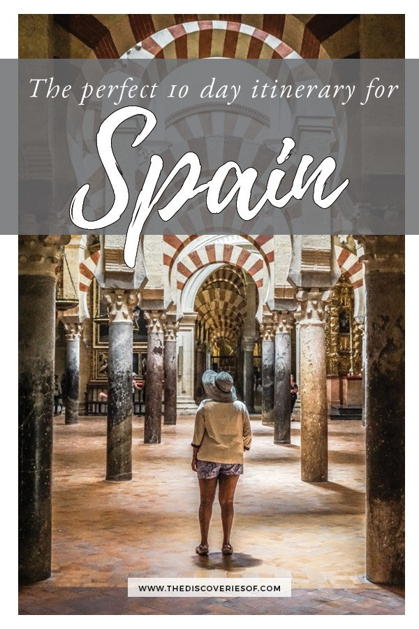 The Ultimate Spain Travel Itinerary! A step by step guide to planning your trip to Spain - an amazing travel destination for your time in Europe. Covering Madrid, Andalucia, Seville, Granada, Cordoba and more - everything you need to rock your trip! Read now. #spaintravel #travelitinerary #traveltips #travel