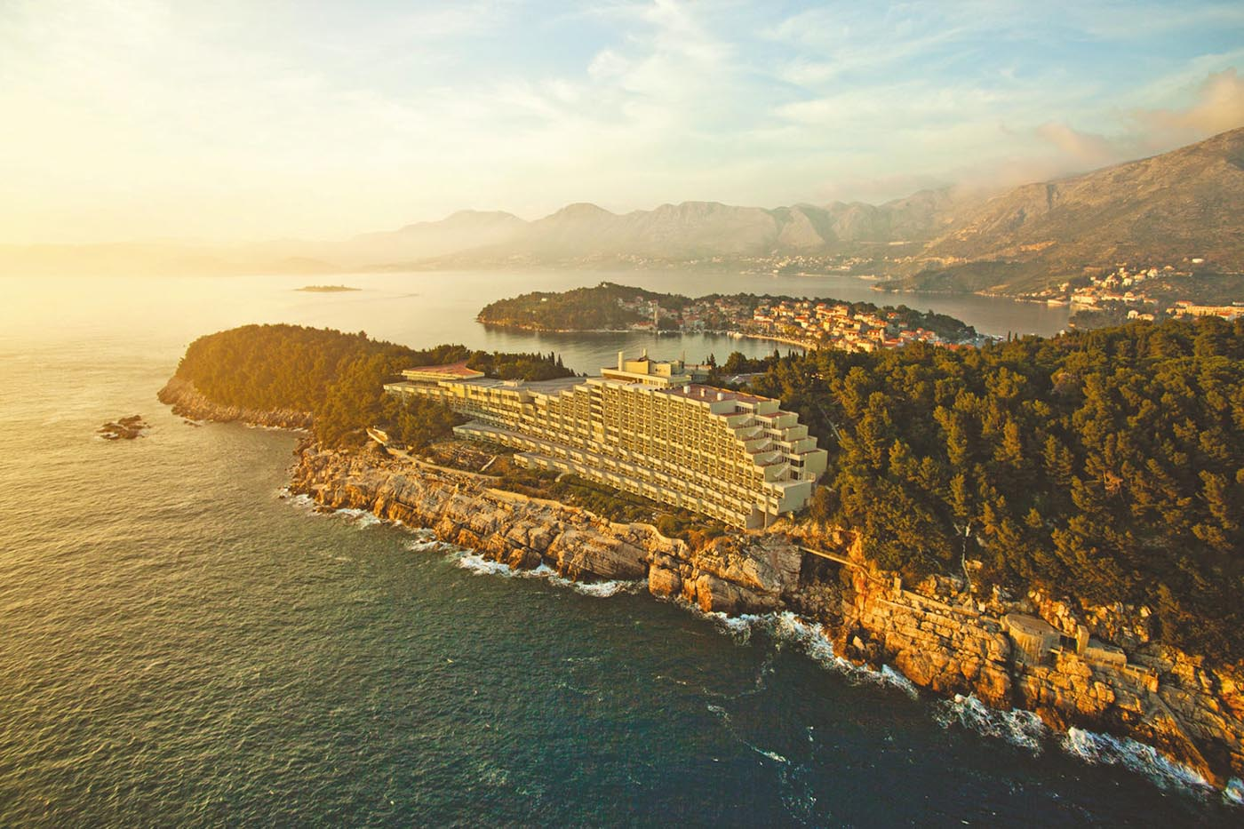 Aerial view of Cavtat & surrounding peninsula
