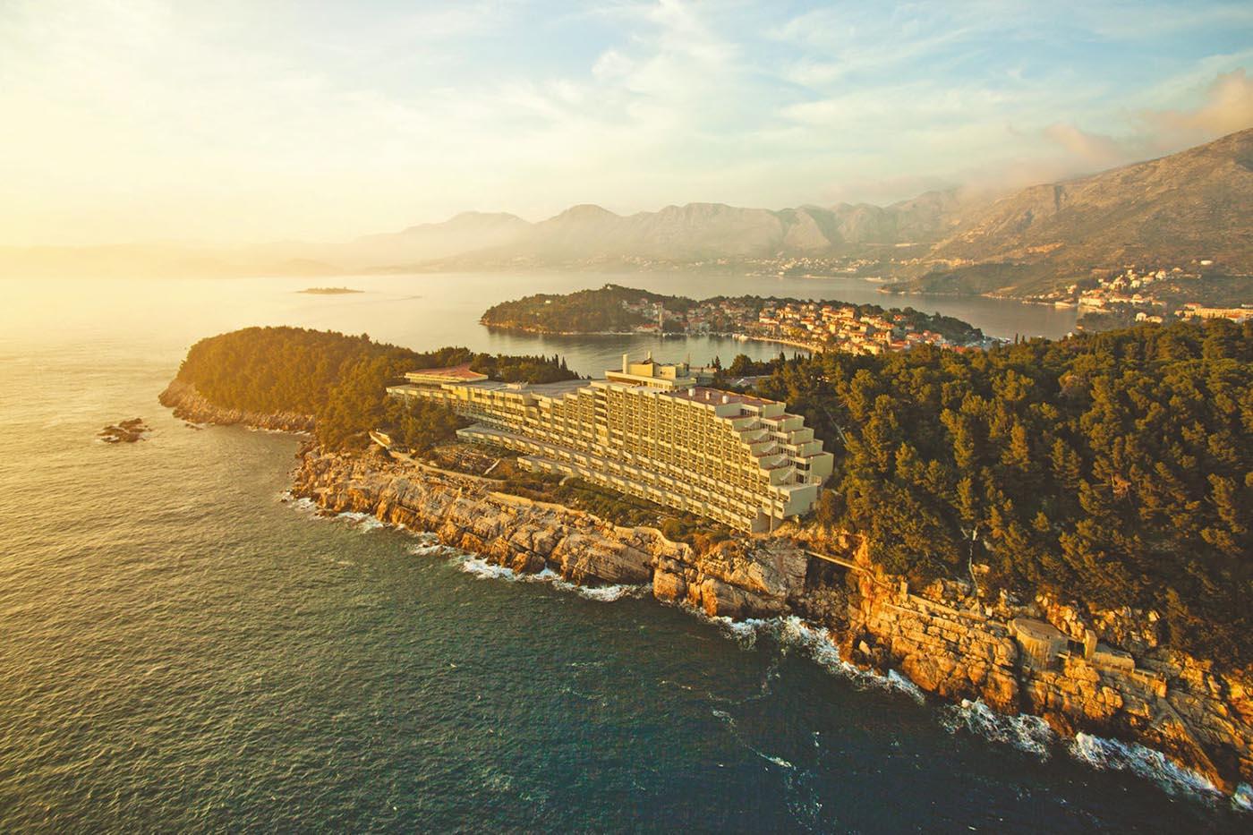 Aerial view of Cavtat & surrounding peninsula