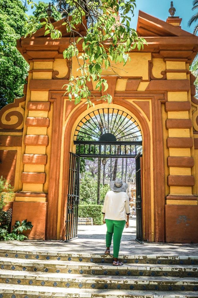 Exploring the Alcazar's Gardens Seville