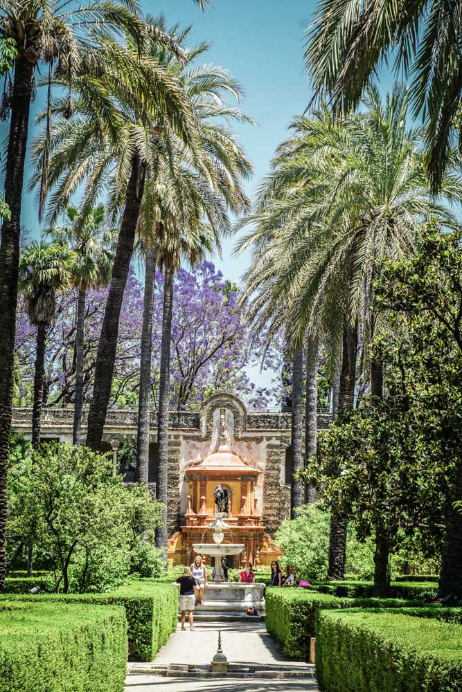 Hanging out in the Alcazar's beautiful gardens