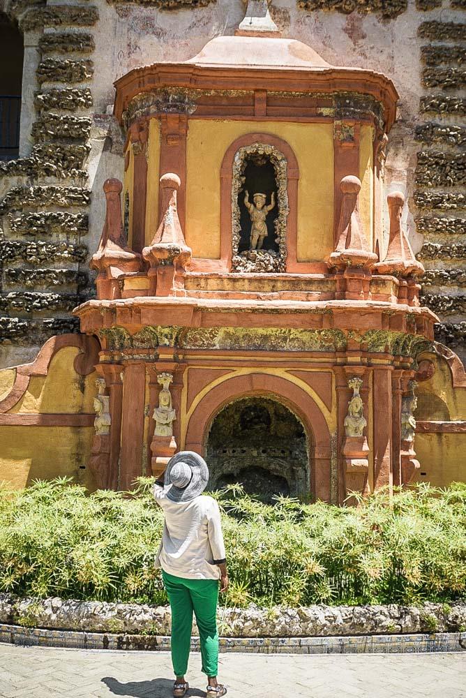 The water organ in the Alcazar gardens