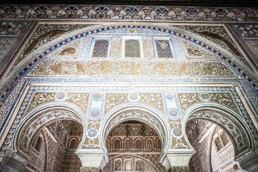 Elaborate detailing in the Palacio del Rey Don Pedro