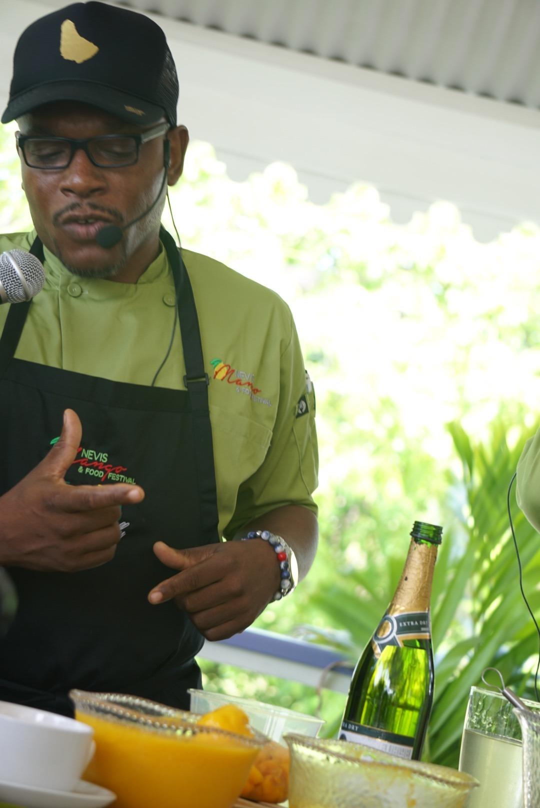 Chef Michael Harrison at the Mango Festival
