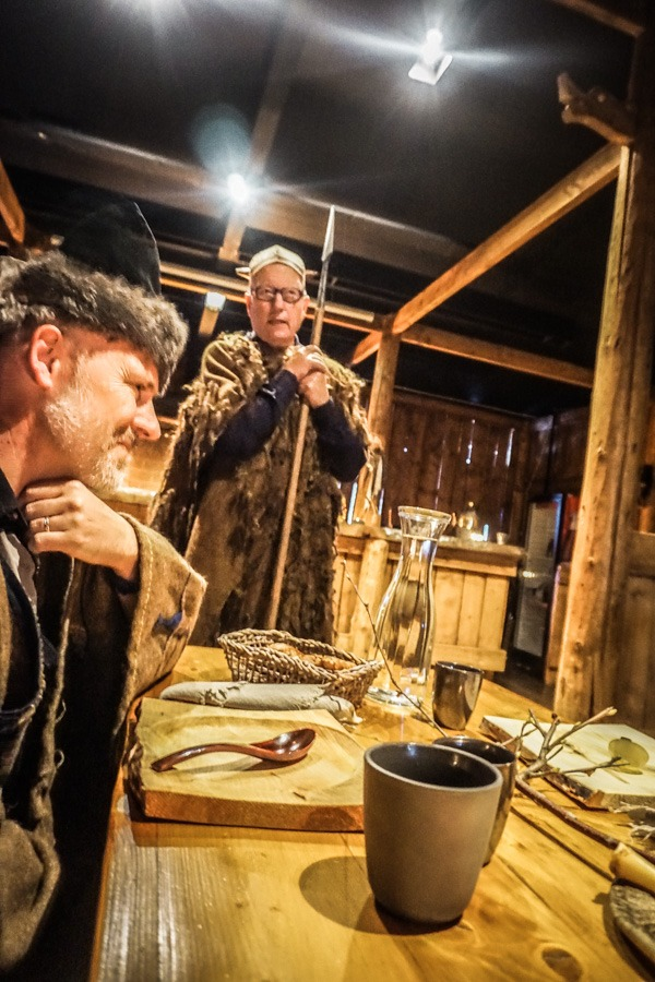Frederik Giving a True Viking Speech at the Saga Center