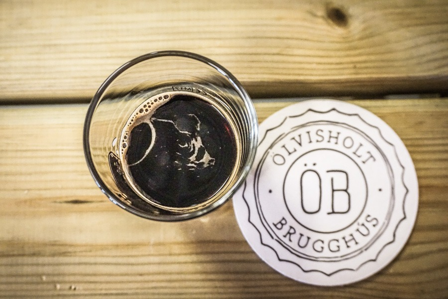 Coffee Beer at Olvisholt Brugghus