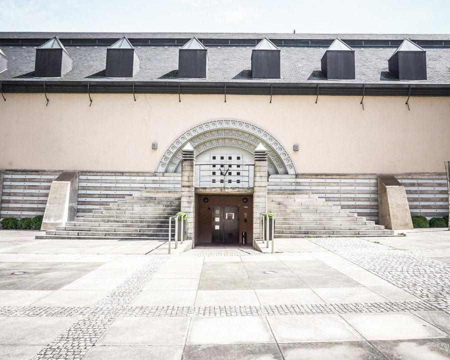 Inside the Abbeye de Neumunster complex
