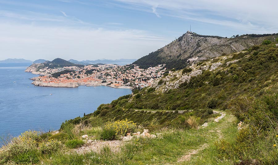 View of Dubrovnik from Park Orsula
