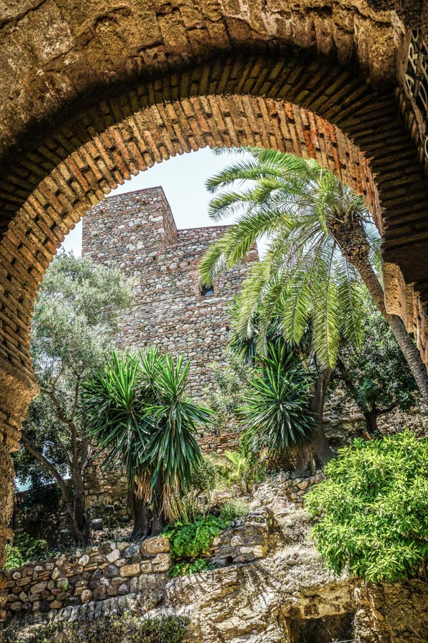 Views of the Alcazaba in Malaga
