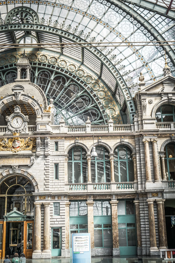 Antwerp Central Railway Station.