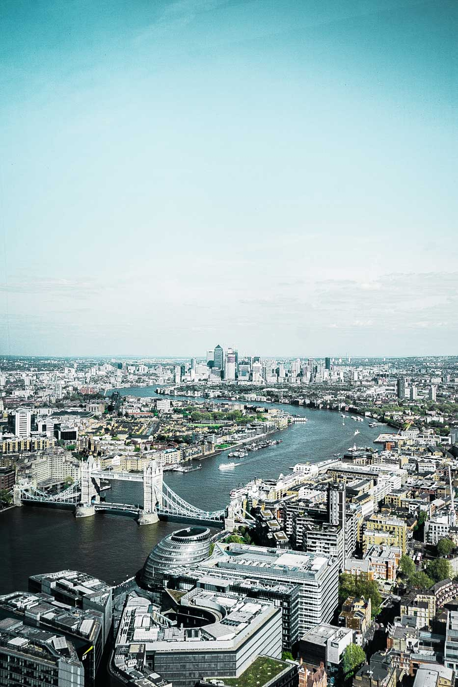 View from the Shangri La at The Shard