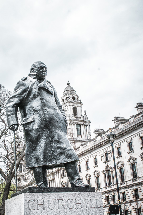 Winston Churchill statue at Westminster