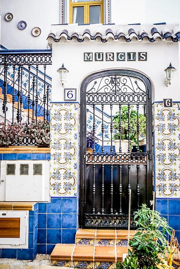 Tiled entrance, Mojacar