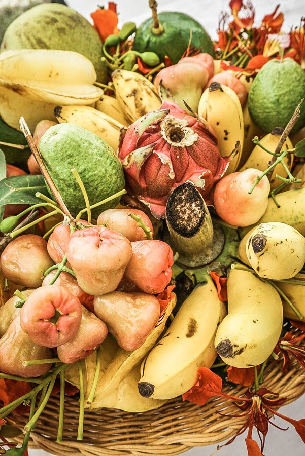 Tropical fruit in Nevis. Dreaming of a Caribbean vacation? Nevis is the coolest island in the Caribbean - with a laid-back aesthetic, gorgeous beaches, vibrant culture and cool style and amazing food. Check out my foodie's guide to what to eat and drink in Nevis #travel #caribbean #traveldestinations