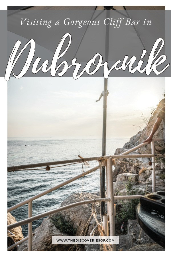 Buza Bar is one of Dubrovnik's coolest nightlife spots. This cliffside bar bosts beautiful views of the sea from a hidden spot in Dubrovnik Old Town. One of the top things to do in Dubrovnik! Read now #dubrovnik #travel #wanderlust
