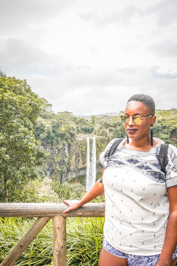 Chamarel Waterfalls in Mauritius are one of the country's most unique travel destinations. Here's why you need to visit these gorgeous falls. Africa I Mauritius #traveldestinations #travel #nature #mauritius