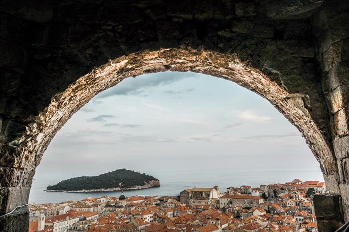 Views from the City Walls in Dubrovnik.