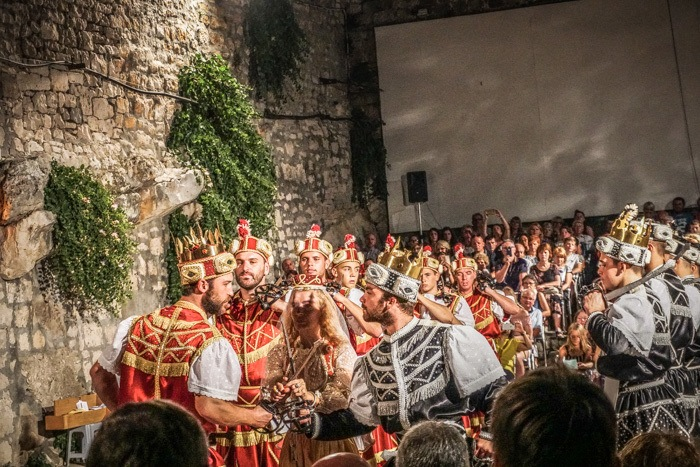 Moreska fight in Korcula, Croatia.