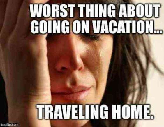 55 funny travel memes that are so true it hurts. The adventure and hilarious side of vacations, then the sadness of going back to work... #funnymemes #travel #memes