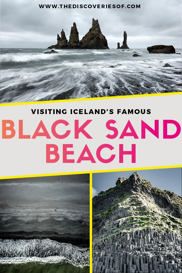 Reynisfjara Beach in Vik is one of Iceland's most stunning destinations. A black sand beach framed by huge basalt columns... here's why you need to go. #travel #wanderlust #iceland