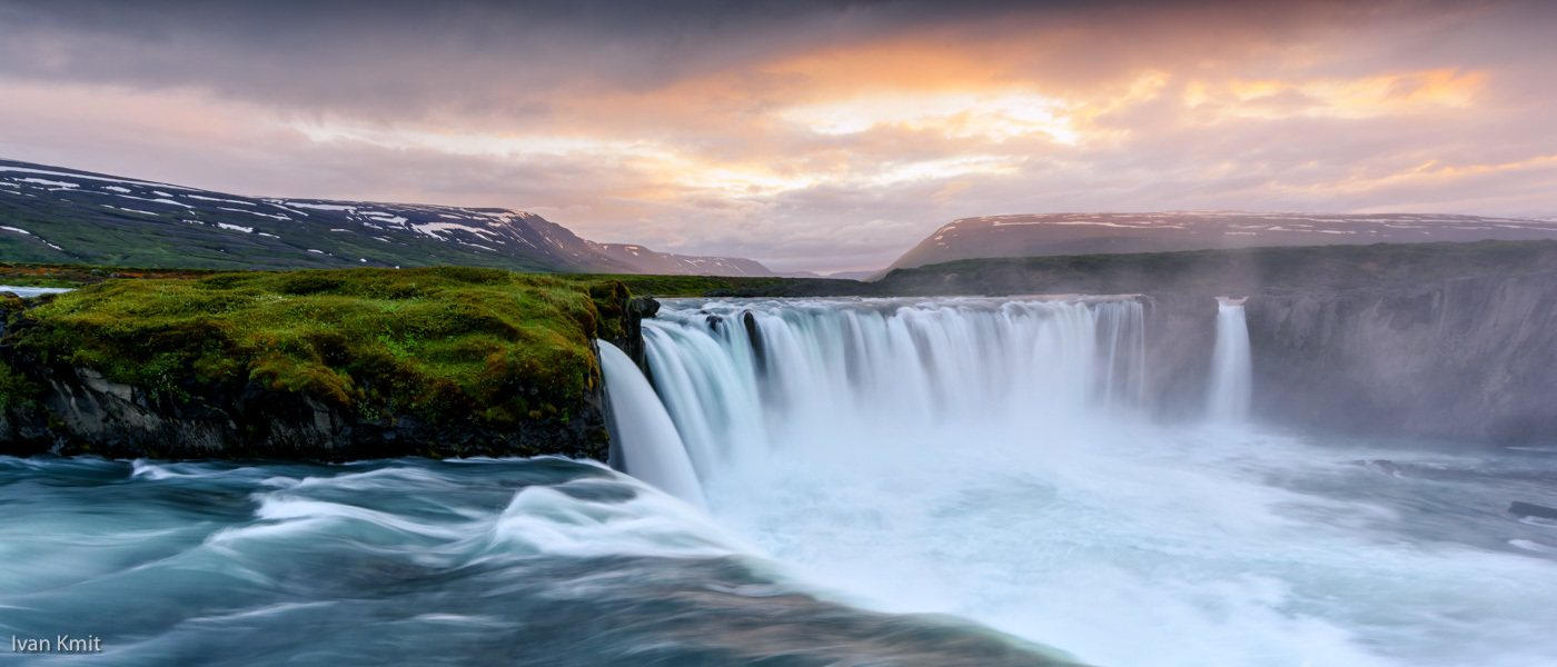 Gorgeous waterfalls in Iceland