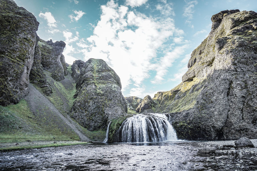 Stjonafoss. 18 Iceland waterfalls that need to be seen to be believed. Photography hotspots, beautiful landscapes - don't miss them on your next trip. Complete with a map! #landscapes #photography #europe