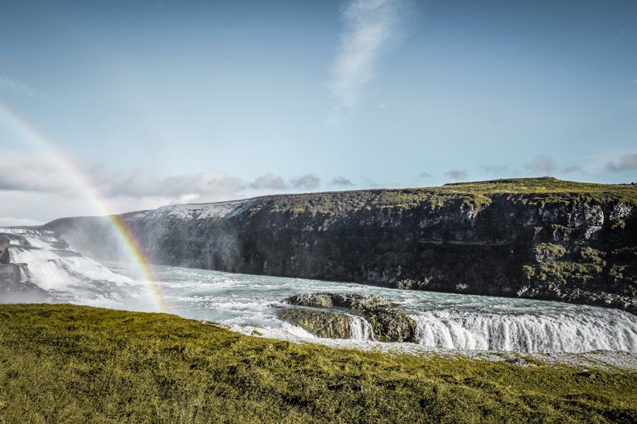 Gullfoss Waterfall. 18 incredible waterfalls in Iceland you need to see! Iceland is packed with beautiful places but their waterfalls are really something special. Skogafoss, Gullfoss and more - these places need to be seen to be believed. #beautifulplaces #nature #iceland
