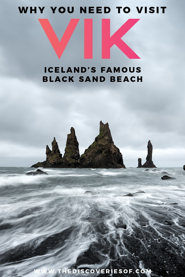 Iceland is packed with incredible landscapes and beautiful places. Reynisfjara in Vik is one of them - a black sand beach that proves nature is a drama queen! Pure photography inspiration. #travel #iceland #travelinspiration