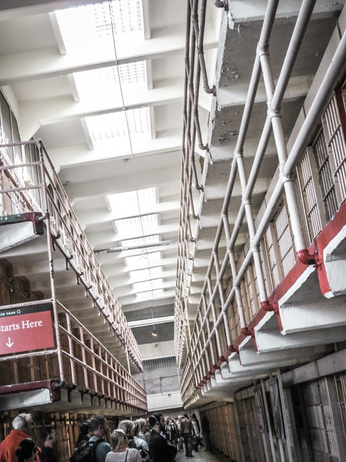 Inside Alcatraz Prison. An amazing San Francisco travel itinerary packed with things to do in your San Francisco trip. #travel #california #thediscoveriesof