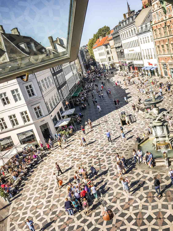 Stroget shopping street Copenhagen