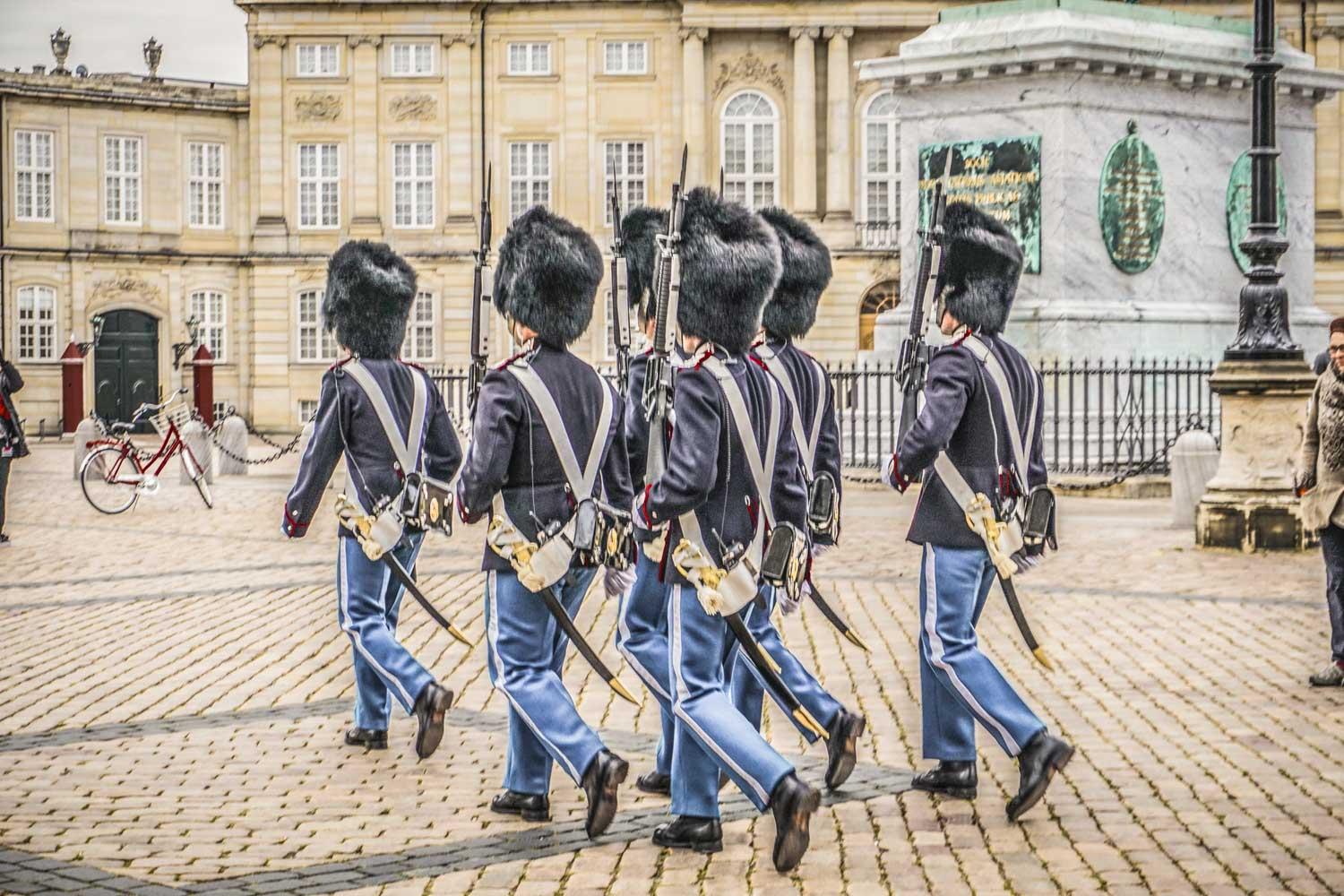 Changing of the guard at the Amalienborg Palace