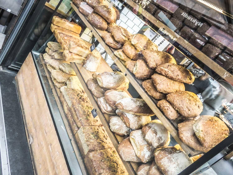 Bread in Torvehallerne Food Market Copenhagen