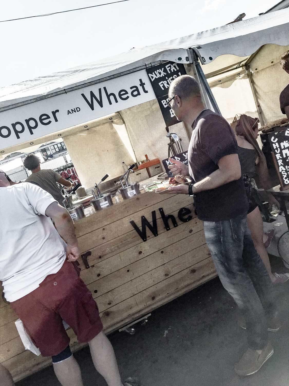 Summer street food market at Kodbyens
