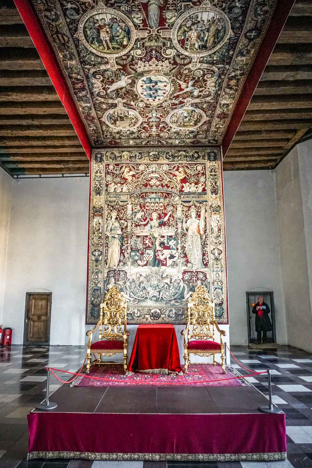 The Throne Room in Kronborg Hamlet Castle Copenhagen