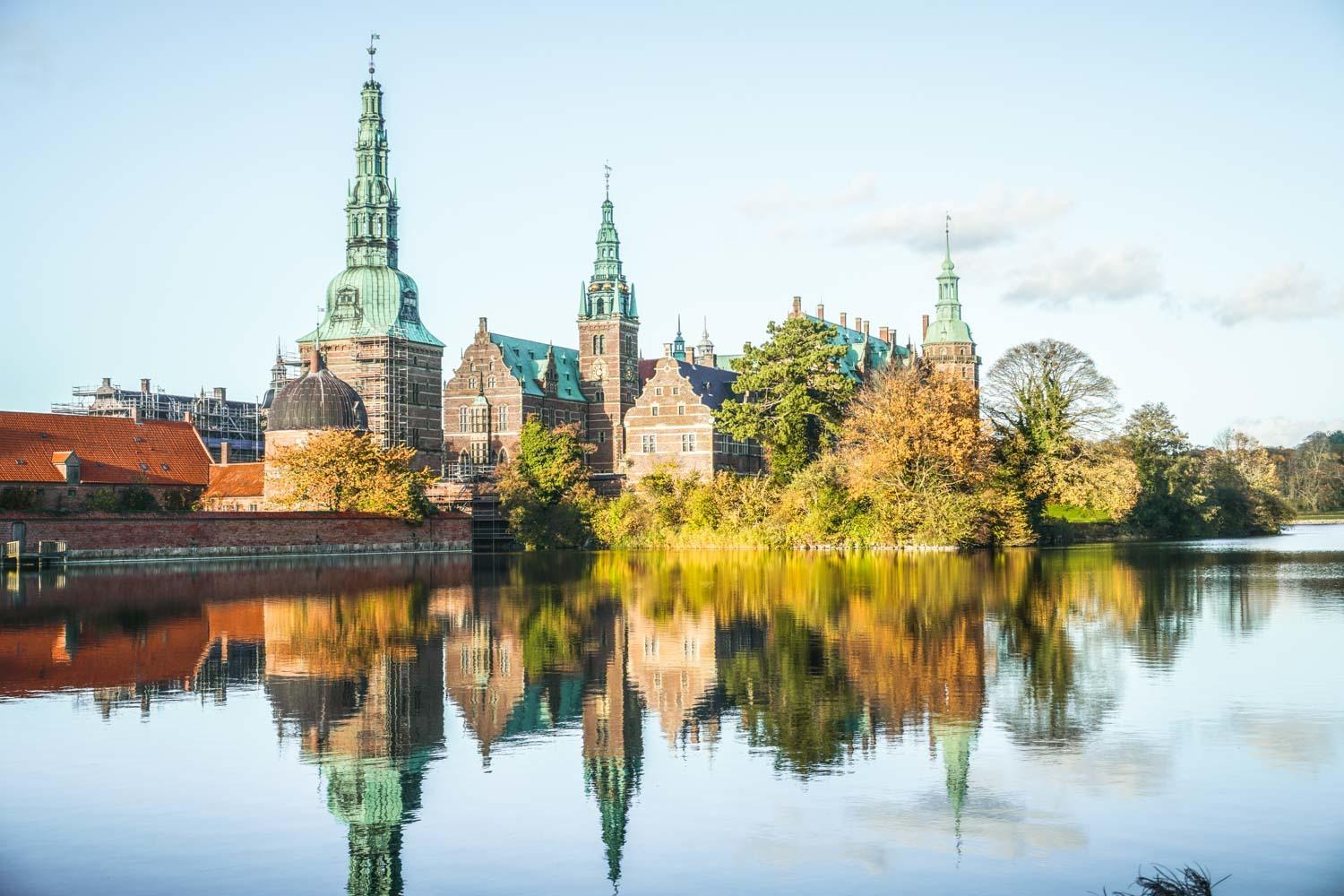 Frederiksborg from across the lake